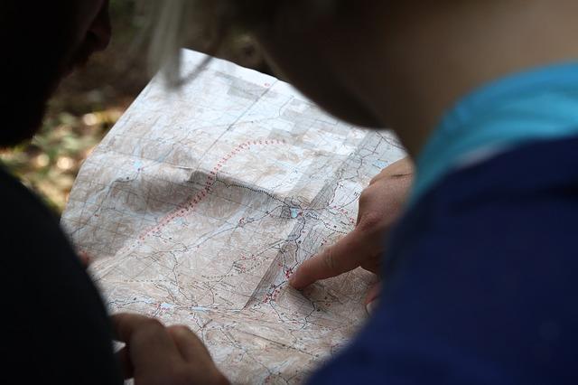 prst na mapě