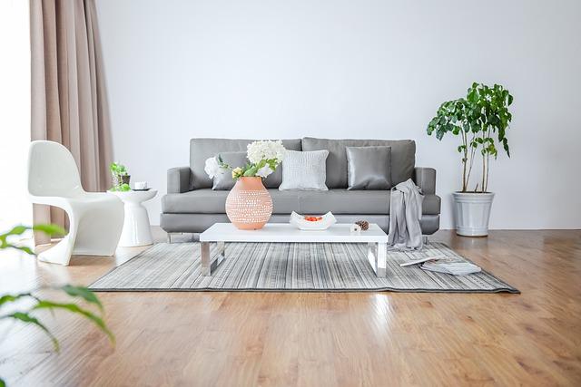 světlý obýváček