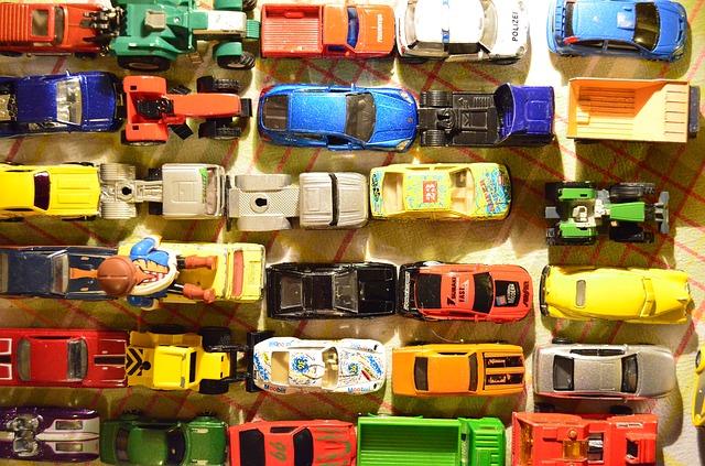 sbírka autíček