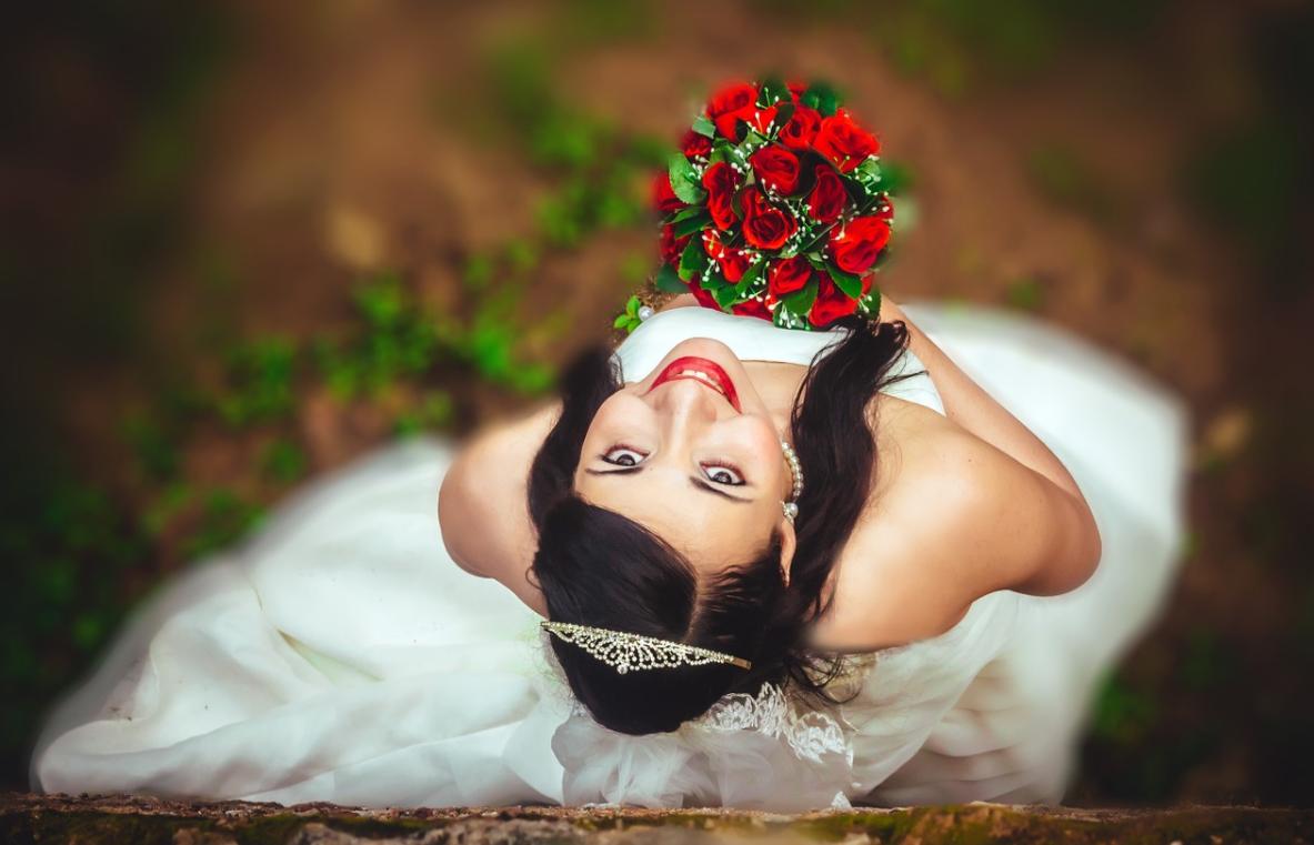 nevěsta a růže